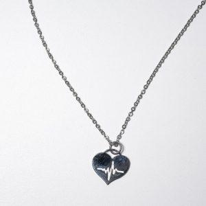 Dije Cardiologia (con cadena) - Ambos de Acero Quirurgico