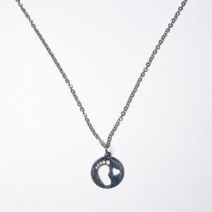 Piecito corazon - Neo (Con cadena) - Ambos de Acero Quirurgico
