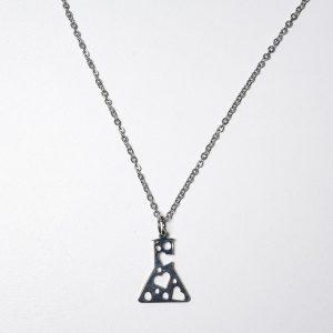 Tubo Ensayo Amor (Con cadena) - Ambos de Acero Quirurgico
