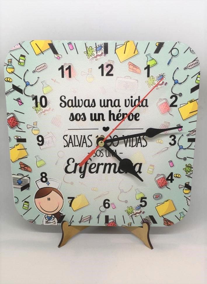 Reloj de escritorio - Enfermera (salva una vida...)