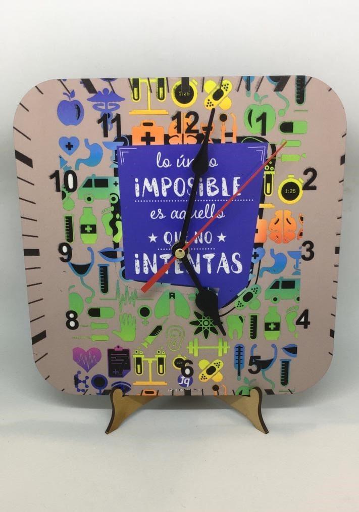 Reloj de escritorio - Lo único imposible es aquello que no se intenta