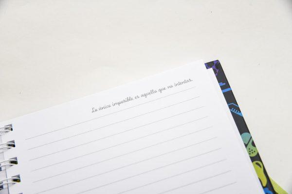 Imposible es solo aquello que no se intenta - Cuaderno organizador Tapa dura A5