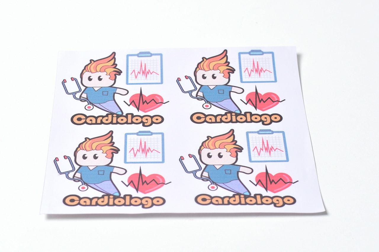 Calco Cardiologo x 4 figuritas