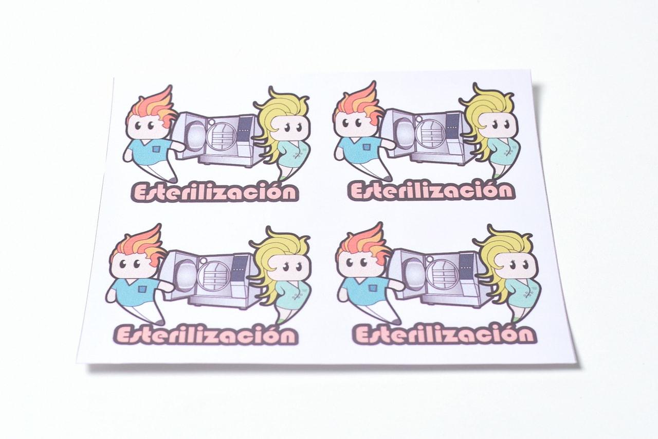 Calcos Esterilizacion x 4 figuritas