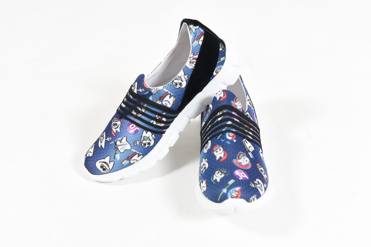 Odonto Blue – Zapatillas Ultralivianas estampadas SIN CORDON